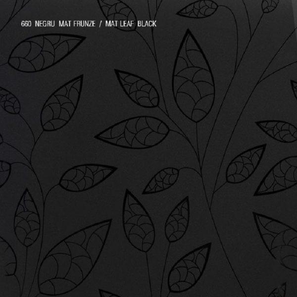 AGT-mdf-660-negru-frunza-metalica
